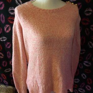 Ann Taylor LOFT Pink Thick Sweater